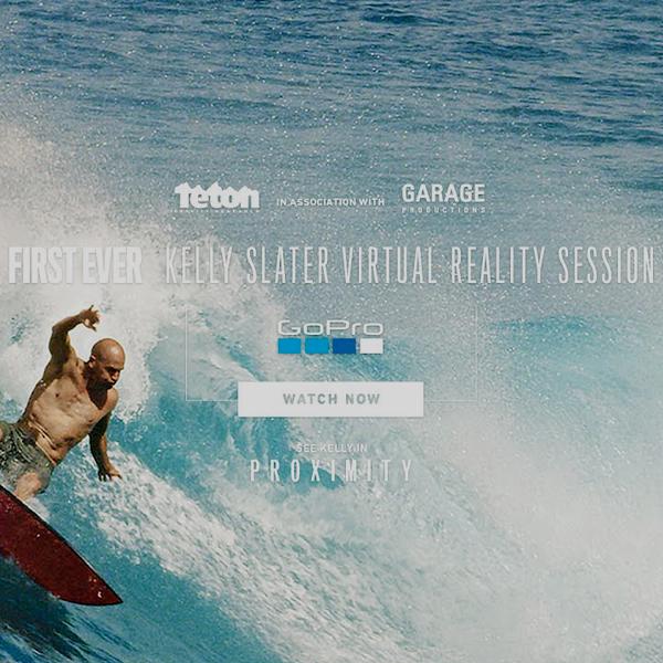 Pedazo de sesión de Surf con Kelly Slater en Realidad Virtual…