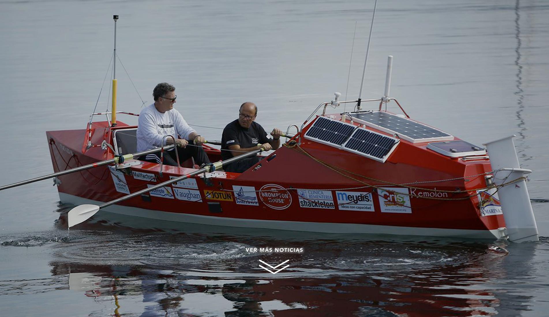Jorge Pena cruza el Atlántico a remo