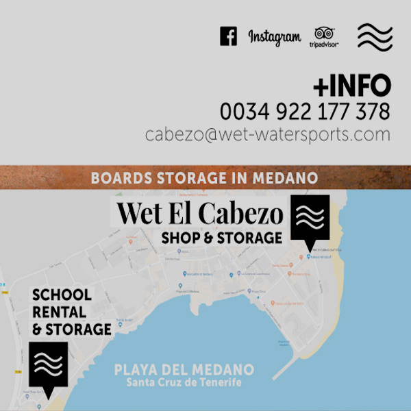 Guarda Tablas - BOARD LOCKER - Wet El Cabezo, Médano -WINDSURF-SHOP-TENERIFE